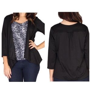 ➕Cardigan blouse